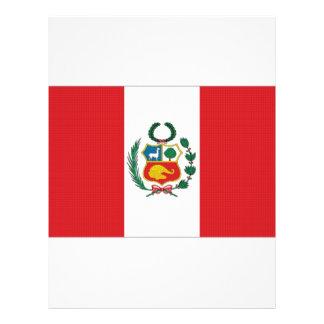"Bandera nacional de Perú Folleto 8.5"" X 11"""