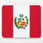 Bandera nacional de Perú Tapete De Ratones
