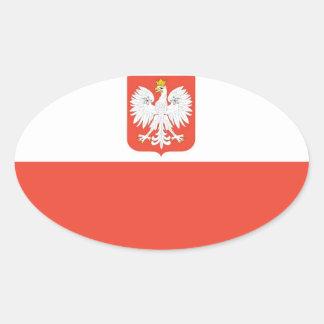 Bandera nacional de Polonia Colcomanias De Oval