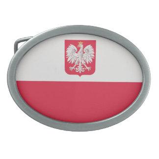 Bandera nacional de Polonia Hebilla De Cinturon Oval