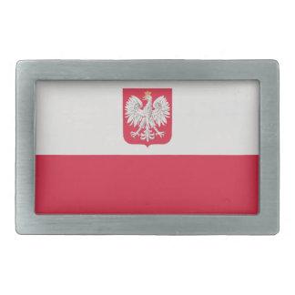 Bandera nacional de Polonia Hebilla Cinturon Rectangular