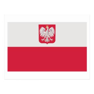 Bandera nacional de Polonia Postales