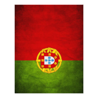 "Bandera nacional de Portugal Folleto 8.5"" X 11"""