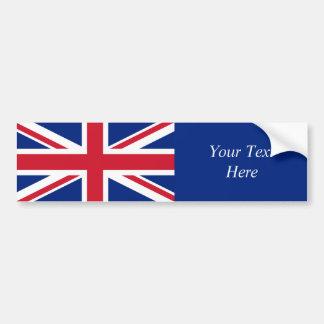 Bandera nacional de Reino Unido Pegatina De Parachoque