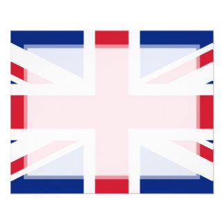 """Bandera nacional de Reino Unido Folleto 4.5"""" X 5.6"""""""