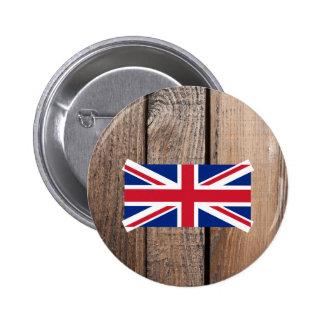 Bandera nacional de Reino Unido Pin Redondo 5 Cm