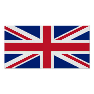 Bandera nacional de Reino Unido Poster