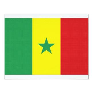 """Bandera nacional de Senegal Invitación 4.25"""" X 5.5"""""""