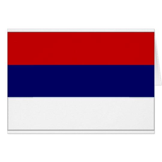 Bandera nacional de Serbia simplificada Tarjeta De Felicitación