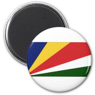 Bandera nacional de Seychelles Imán Redondo 5 Cm