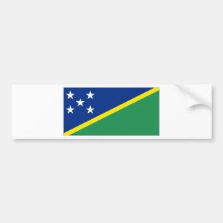 Bandera nacional de Solomon Island Pegatina Para Auto