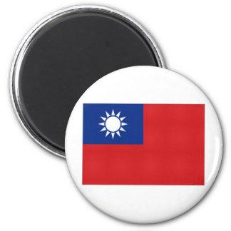 Bandera nacional de Taiwán Imán Redondo 5 Cm