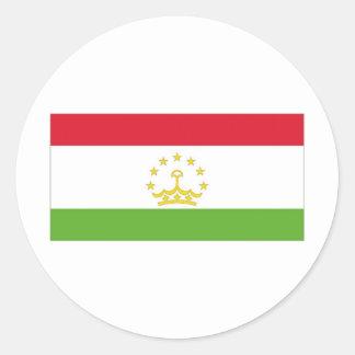 Bandera nacional de Tayikistán Pegatina Redonda