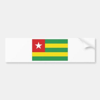 Bandera nacional de Togo Pegatina Para Auto