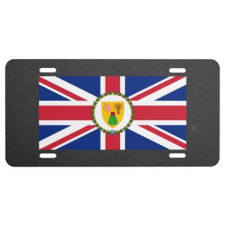 Bandera nacional de Turks and Caicos Islands Placa De Matrícula
