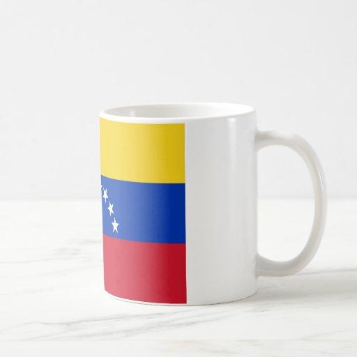 Bandera nacional de Venezuela Taza Básica Blanca