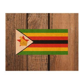 Bandera nacional de Zimbabwe Papel De Corcho Para Fotos