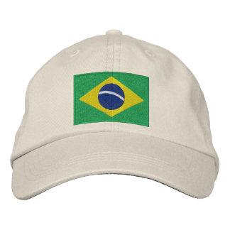 Bandera nacional del Brasil en verde, amarillo y Gorras De Beisbol Bordadas