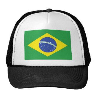 Bandera nacional del Brasil Gorros Bordados