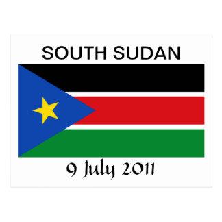 Bandera nacional del sur de Sudán Postales
