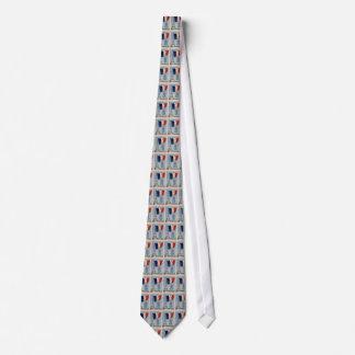 Bandera nacional del vintage y lazo franceses de corbatas