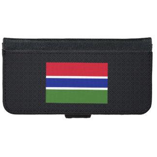 Bandera nacional gambiana de Gambia-01.png Funda Cartera Para iPhone 6
