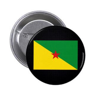 Bandera nacional guyanesa francesa de pin redondo 5 cm