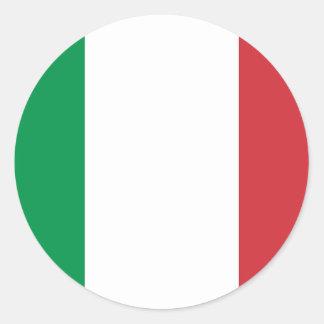 Bandera nacional Italia Etiqueta Redonda