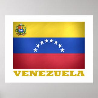 Bandera nacional venezolana póster