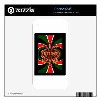 Bandera nacional verde roja negra Co de Kenia del iPhone 4S Calcomanías