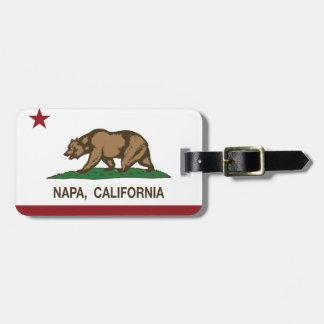 Bandera Napa del estado de California Etiquetas Para Maletas