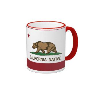Bandera nativa de la república de California Taza De Dos Colores