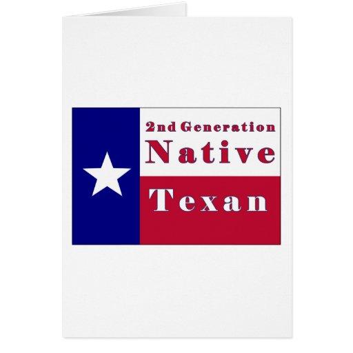 Bandera nativa del Texan de la 2da generación Felicitación