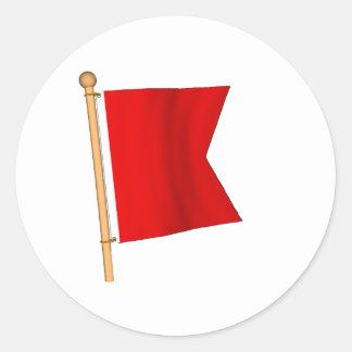 Bandera náutica 'B Pegatina Redonda