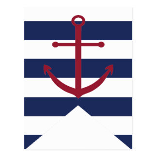 Bandera náutica del empavesado del ancla de la fie tarjetas postales