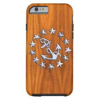Bandera náutica del yate del cromo en la impresión funda para iPhone 6 tough