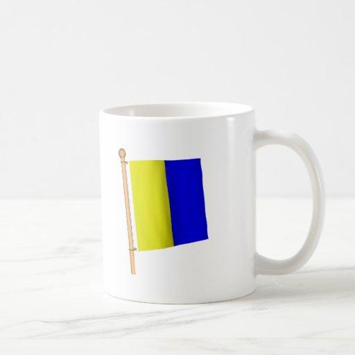 Bandera náutica 'K Tazas De Café