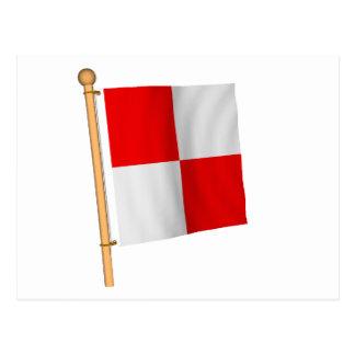 Bandera náutica 'U Postales
