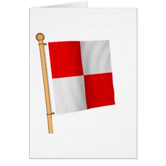 Bandera náutica 'U Tarjeta De Felicitación