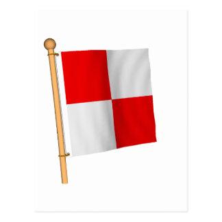 Bandera náutica 'U Tarjetas Postales