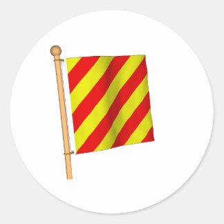 Bandera náutica 'Y Pegatina Redonda