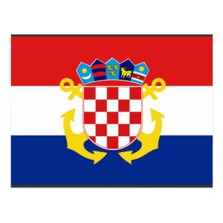 Bandera naval Croacia, Croacia Tarjetas Postales