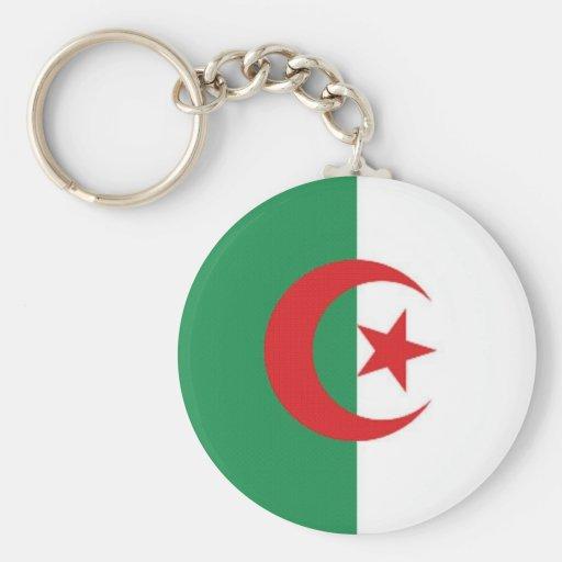 Bandera naval de Argelia Llavero Redondo Tipo Pin