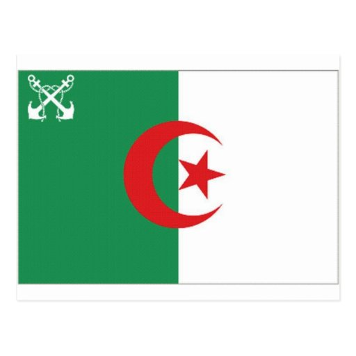 Bandera naval de Argelia Postales