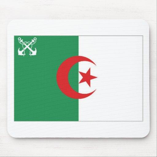 Bandera naval de Argelia Tapetes De Ratón