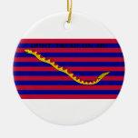 Bandera naval de Carolina del Sur durante guerra r Ornamente De Reyes
