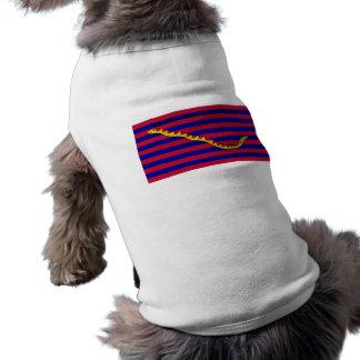Bandera naval de Carolina del Sur durante guerra r Camiseta De Mascota