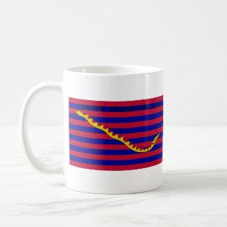 Bandera naval de Carolina del Sur durante guerra r Tazas De Café