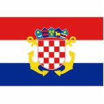 Bandera naval de Croacia, Croacia Esculturas Fotográficas