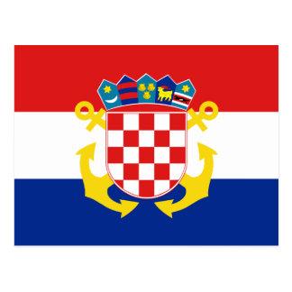 Bandera naval de Croacia, Croacia Tarjetas Postales